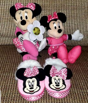 Minnie Mouse Lot of Plush Slippers Size 7/8 Kids & 2 Musical Toys for Sale in Neptune Beach, FL