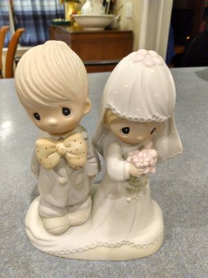 Precious Moments porcelain Bisque Bride and Groom Figurine for Sale in Winter Haven, FL