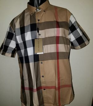 Burberry Camel short sleeve button down shirt for Sale in Dallas, TX