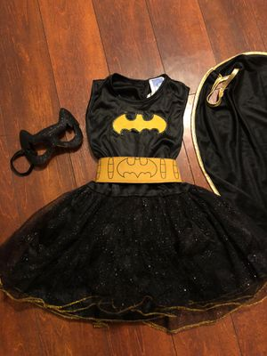 Bat girl costume size small 5/6 for Sale in Mansfield, TX