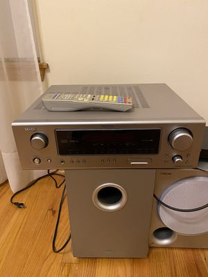 Denon Audio reciever with dual subwoofers for Sale in Naperville, IL