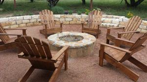 Wooden adirondacks fire pit lawn, patio or deck chair for Sale in Houston, TX