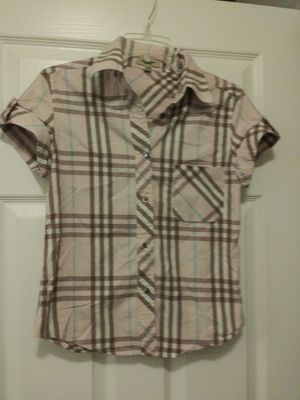 Authentic girl Burberry Shirt Sz Large for Sale in Colfax, NC