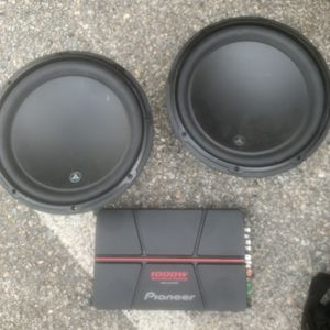 2 JL Audio 12 Inch Subs, 1000w Amp for Sale in Norfolk, VA