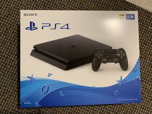 PS4 1TB jet black slim edition console Brand new for Sale in Los Angeles, CA