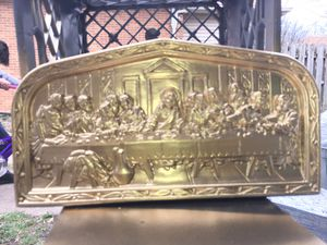 Jerusalem Gold plated the last dinner mantle for Sale in Canton, IL
