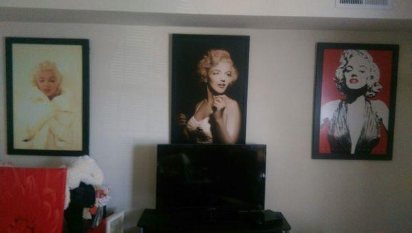 Beautiful Marilyn Monroe framed portraits!!!