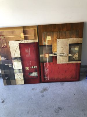 Canvas artwork (3 pieces) for Sale in Raleigh, NC