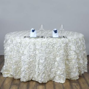 "120"" round Wedding rosette tablecloth for Sale in Calverton, MD"