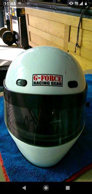 G- Force rasing gear white motorcycle helmet for Sale in Los Angeles, CA
