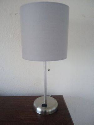 Lamp with outlet for Sale in Turlock, CA