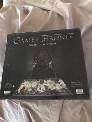 Brand New Game of Thrones Puzzle of Westeros 1400 Pieces for Sale in Phoenix, AZ