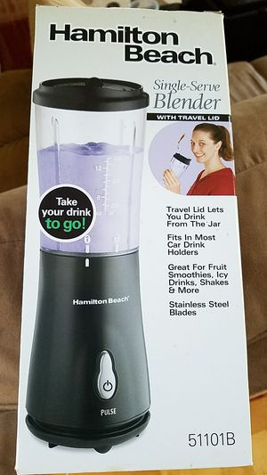 Brand NEW - Hamilton Beach Single-Serve Blender with Travel Lid GREAT DEAL!!! for Sale in Portage, MI