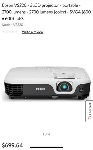 Epson projector for Sale in Fort Lauderdale, FL