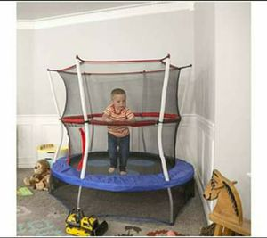 Mini Trampoline with Enclosure Net Kids Jumper Indoor Outdoor Play Room Games Activity for Sale in Wilkes-Barre, PA
