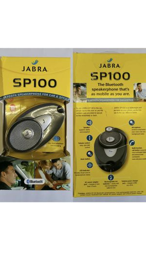 Like New Jabra SP100 Bluetooth Speakerphone for Car & Office W/Multi-Function call Button for Sale in Leesburg, VA