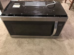 1000w whirlpool microwave (over the range) for Sale in Hendersonville, TN