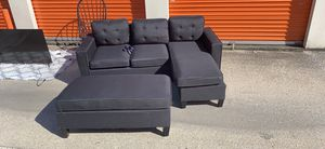 BLACK COUCH WITH OTTOMAN LIKE NEW for Sale in Nashville, TN