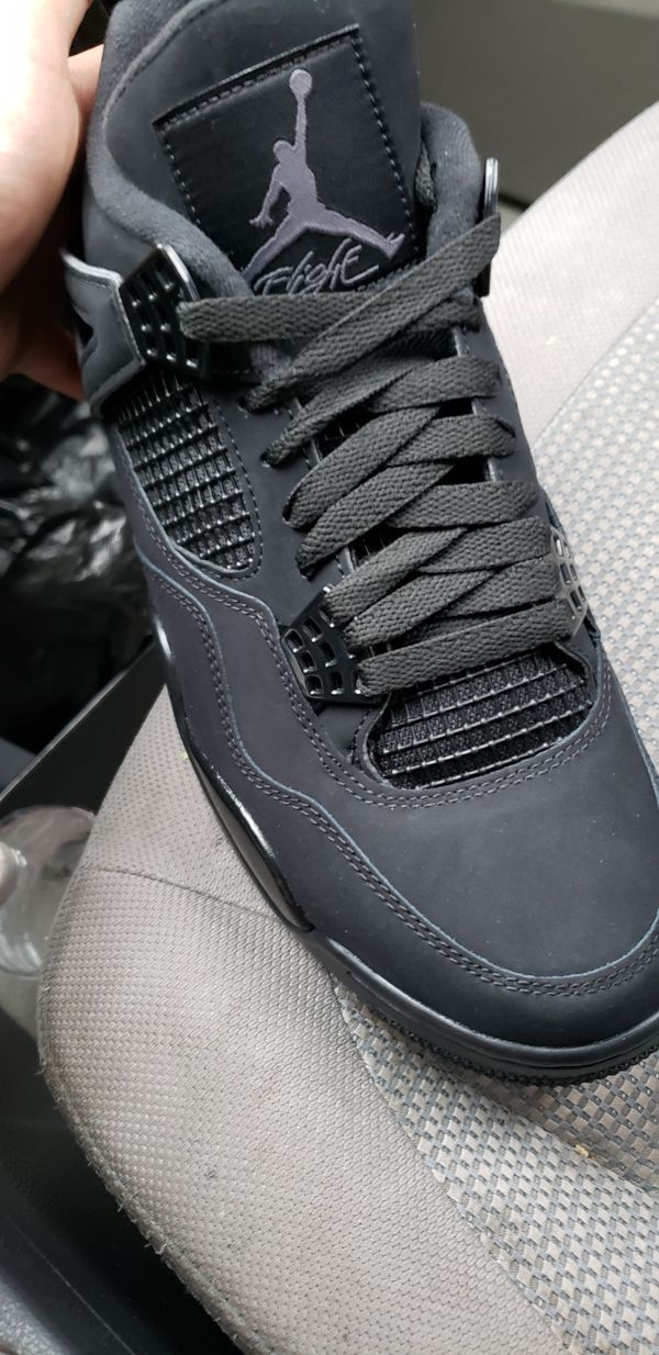 Jordan retro 4s black cat so 8.5