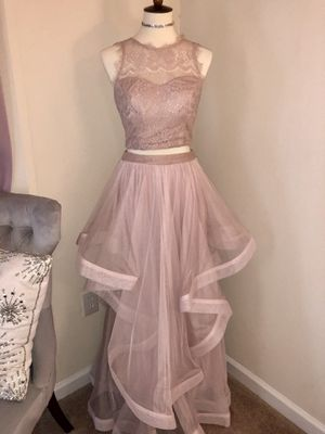 Mauve/Pink/Silver Two Piece Prom Dress for Sale in Raleigh, NC