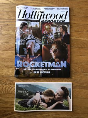 The Hollywood Reporter: Rocketman, and a promo book of A Hidden Life for Sale in Los Angeles, CA