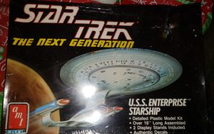 1988 STAR TREK: The Next Generation U.S.S. Enterprise Model Kit by AMT #6619 for Sale in Tacoma, WA