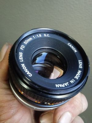 Canon FD 50mm f1.8 S.C. in NEAR-MINT for Sale in Chino Hills, CA