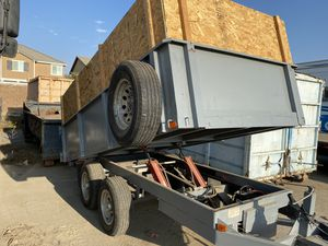 Dump trailer 14k lbs traila dompe for Sale in Ontario, CA