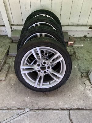 BMW 328 18 inch rims and brand new tires for Sale in Long Beach, CA