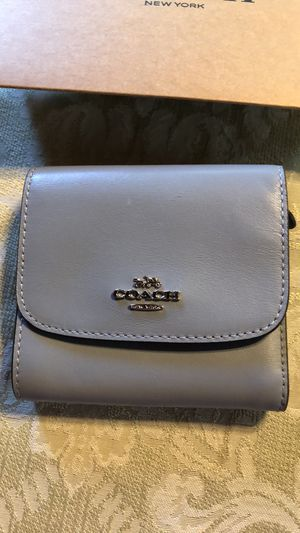Coach leather foldable wallet for Sale in Downey, CA