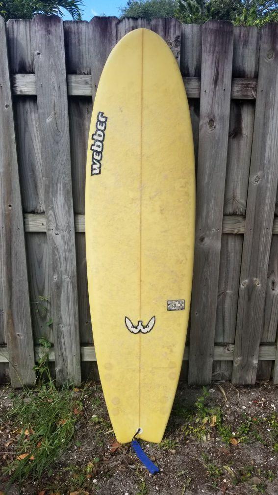 """Webber 6'2"""" Surfboard"""