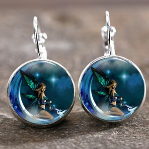 *NEW ARRIVAL* FAIRY on the Moon Cabachon Lever Back Earrings *See My Other 300 Items* for Sale in Palm Beach Gardens, FL