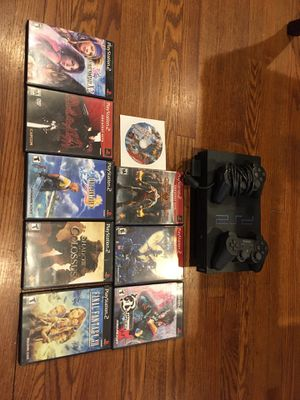 PS2 with 9 games and 1 controller for Sale in Somers, CT