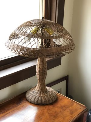 Antique Natural Wicker Lamp for Sale in Seattle, WA