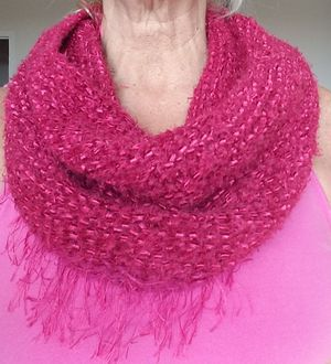 Soft hand knit cowl neck tube scarf for Sale in Arlington, VA