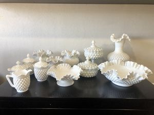 Vintage Fenton Hobnail Milk Glass Collection for Sale in Milpitas, CA