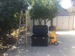 Ladder- tool box- dewalt compressor for Sale in Los Angeles, CA