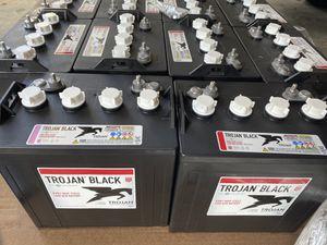 Trojan batteries Trojan battery golf cart batteries solar panel batteries inverter 6 volt 6v 8 volt 8v 12 volt 12v battery batteries marine car golf for Sale in West Palm Beach, FL