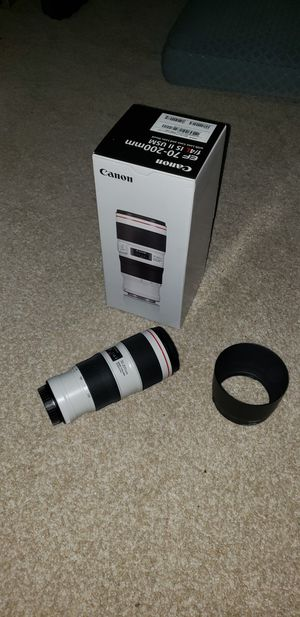 Canon 70-200mm f4 L IS II USM Lens 70-200 for Sale in Renton, WA
