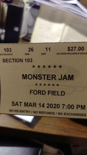Monster Jam for Sale in Redford Charter Township, MI