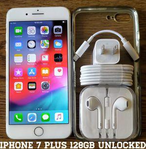 Iphone 7 Plus (128GB) Factory-UNLOCKED + Accessories for Sale in Falls Church, VA