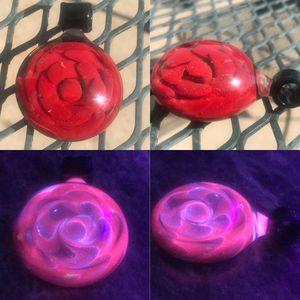 "by Dakota Cochran 1 5/8"" UV Reactive Pink Vortex Spiral Implosion Pendant Red for Sale in Marengo, OH"