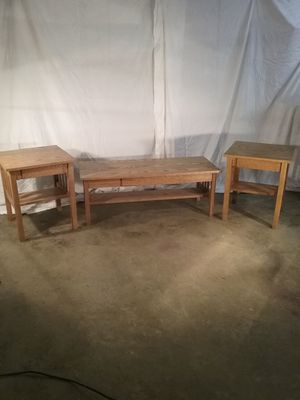 Mission Furniture Handmade coffee end table set for Sale in Snohomish, WA
