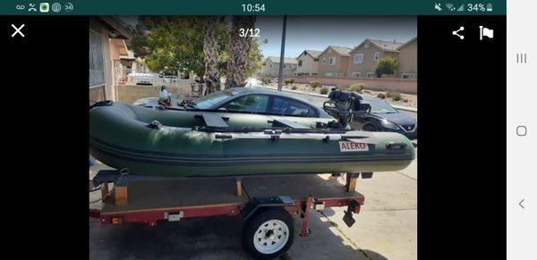 Aleko 10.5ft inflatable boat 6.0hp motor