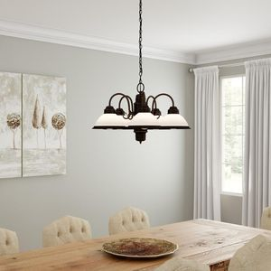 Beautiful new 5 light chandelier in oil rubbed bronze for Sale in Las Vegas, NV