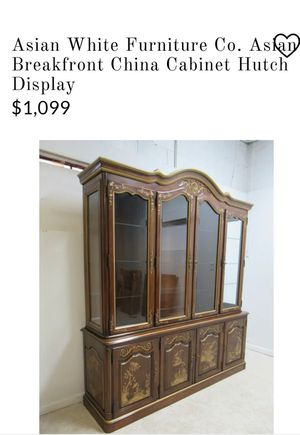 Asian antique China cabinet very nice for Sale in Cleveland, OH