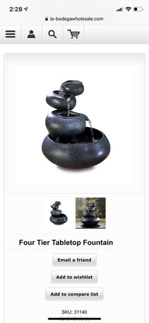 Four Tier Tabletop Fountain for Sale in New York, NY