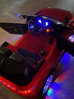 12v kids ride on car, open doors,led lighted, mp3 usb, sd card for Sale in Daly City,  CA
