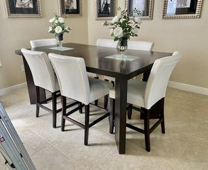 Modern bar counter height dining room table with chairs for Sale in Delray Beach, FL