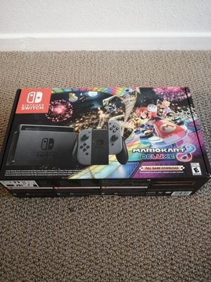 Red/Blue or Gray Nintendo Switch Mario Kart 8 Deluxe Bundle for Sale in Montclair, CA